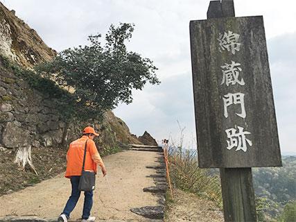 苗木城 綿蔵門跡
