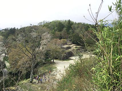 苗木城 大矢倉跡(三の丸)