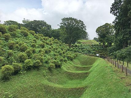 山中城 西の丸 畝堀