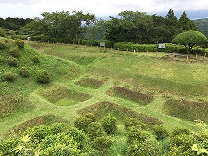 山中城 西の丸 障子堀