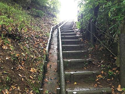 山中城 西の丸 階段
